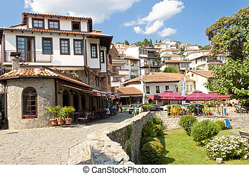 Ohrid UNESCO town. - View on old town of Ohrid in Macedonia,...