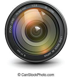 Photo lens - Camera photo lens, vector