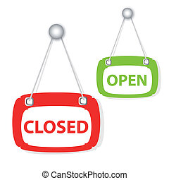 closed & open signboard