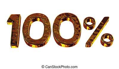 Hundred gold percent