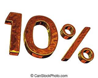 Ten gold percent