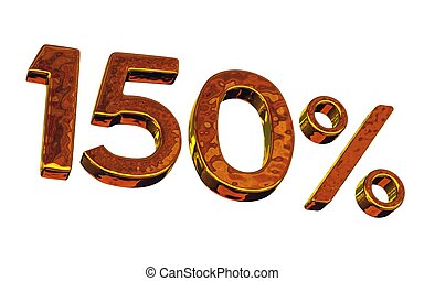 One hundred fifty gold percent