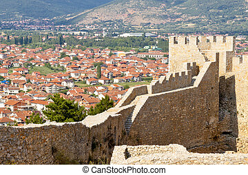 View on Ohrid from old fort. - View on UNESCO Ohrid town...