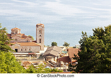 View on church on coast of Ohridsko lake - View on beauty...