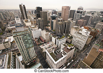 Vancouver - Birds eye view of Vancouver