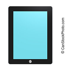 Tablet pad, backlit.