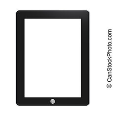 Tablet pad with blank Screen for Copy Space. Isolated