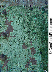old metal with green paint