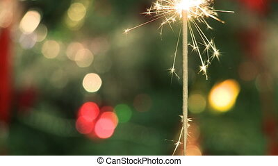 Sparkler on Christmas