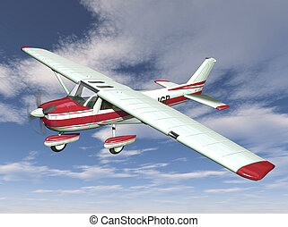 DI-TR-002 - small airplane on sky background