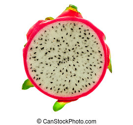 Pitahaya, dragon fruit isolated on white background