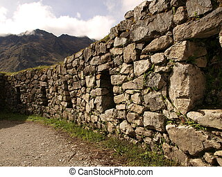Ancient inca walls in Peru
