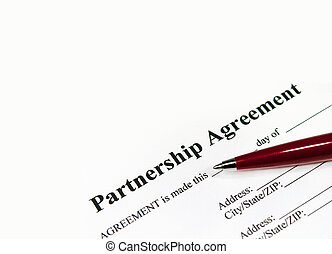 Partnership agreement - Closeup image of a partnership...