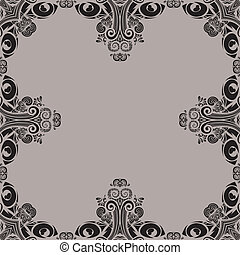 Decoratief, border, tribal design - Decoratieve rand voor...