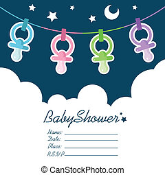 Baby Shower Invitation - Baby Shower invitation greeting...