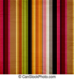 Shabby textile Background with colorful stripes - Shabby...