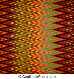 Shabby textile background bright and colorful made of zig zag stripes