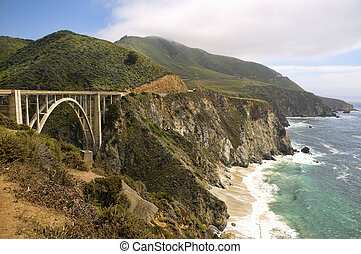 Bixby Creek Bridge on the West Coast Highway in California