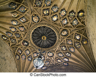 Ceiling of Christ Church College - The ceiling of the main...