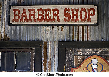 Barber Shop - Old barber shop sign