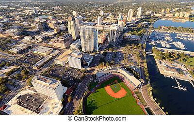 St. Pete Aerial View - Aerial view of St. Petersburg,...