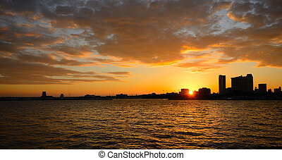 Sunset - sunset over st pete, florida