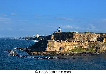 San Juan - Paseo Del Moro Fort at San Juan, Puerto Rico