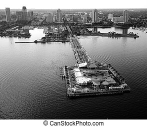 St. Pete Aerial View - Aerial view of The Pier at St....