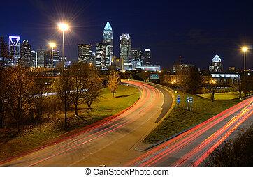 Charlotte Skyline - skyline of charlotte, north carolina