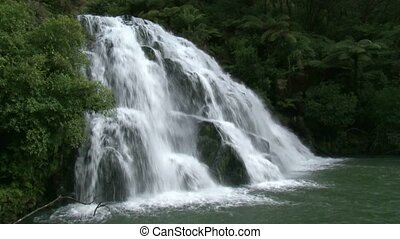 Owaroha falls side on - Owaroha Falls - Coromandel...