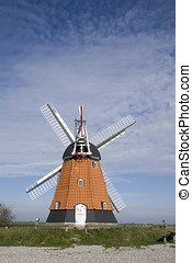 Old Windmill at the eastcoast of Jutland, Denmark