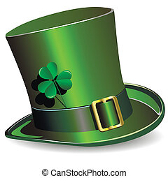 St Patricks Day hat - illustration, green St Patricks Day...