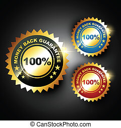 money back guarantee - stylish golden money back guarantee...