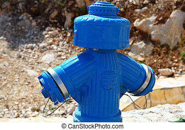 Fire blue hydrant