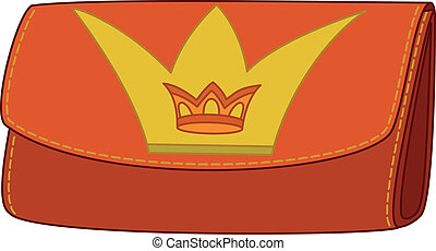 Wallet with crown emblem