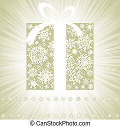 Elegant burst with gift box. EPS 8 vector file included
