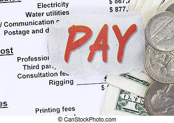Pay a balance sheet. Control of expenditure, revenue and...