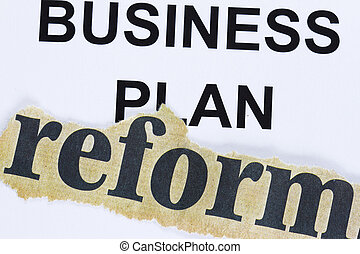 Reform of business plan abstract - reform cutout lain on...