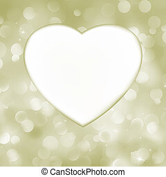 Elegant valentine heart card. EPS 8 vector file included