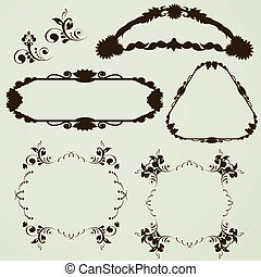 Vector ornament frames