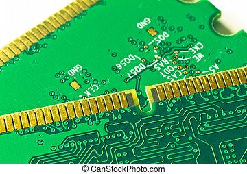 memory module close up - close up of DDR2 memory module