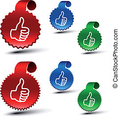 Vector set of best choice labels