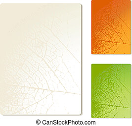 Vector papers with nature texture