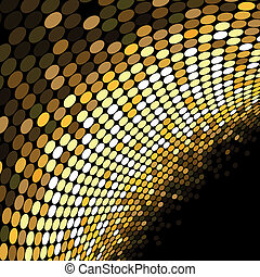 Vector golden dotted background