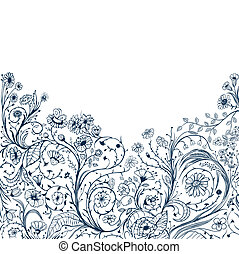 floral background - decorative floral background with...