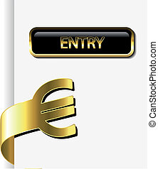 Vector card with financial activity