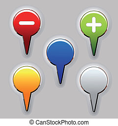 Vector set of color buttons