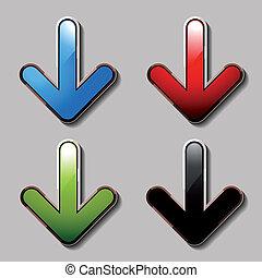 Vector download arrows