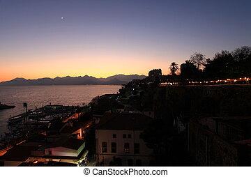 Antalya 792 - City and Coastline of Antalya by Nigth