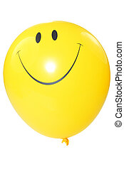 smiley faced balloon - smiley faced balloon isolated on...